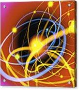 Subatomic Particles Abstract Acrylic Print