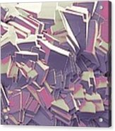 Sucrose Crystals, Sem Acrylic Print by Steve Gschmeissner