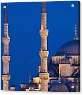 Sultanahmet Or Blue Mosque At Dusk Acrylic Print