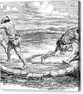 Sumo Wrestling, 1853 Acrylic Print