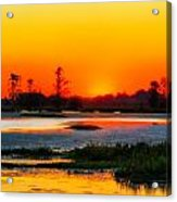 Sunrise Circle B Bar Reserve Acrylic Print
