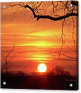 Sunrise In Tennessee Acrylic Print