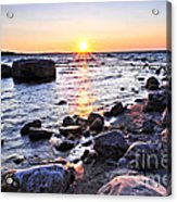 Sunset Over Water Acrylic Print