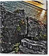 Sunset Please On The Rocks Acrylic Print