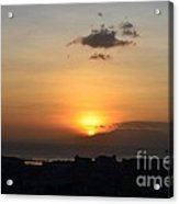 Sunset Upon The Ocean  Acrylic Print