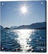 Sunshine Over An Alpine Lake Acrylic Print