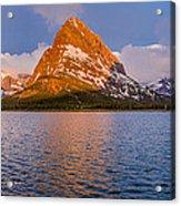 Swiftcurrent Lake Panorama Acrylic Print