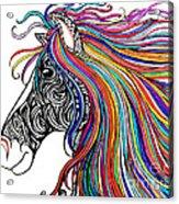 Tattooed Horse Acrylic Print