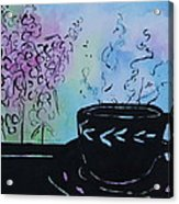 Tea and Snap Dragons Acrylic Print