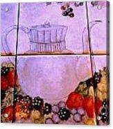Teapot And Berries Acrylic Print