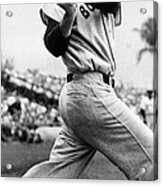 Ted Williams Of The Boston Red Sox, Ca Acrylic Print by Everett