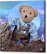 Teddy On Tour Acrylic Print