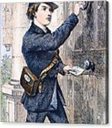 Telegraph Messenger, 1869 Acrylic Print