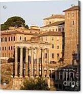 Temple Of Saturn In The Forum Romanum. Rome Acrylic Print