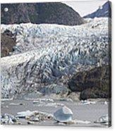 Terminal Moraine And Glacial Lake Acrylic Print