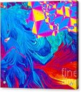 Testosterone Crystal Acrylic Print