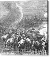 Texas: Cattle Drive, 1867 Acrylic Print