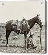Texas: Cowboy, C1910 Acrylic Print