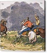 Texas Cowboys, C1850 Acrylic Print