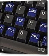 Text Message Keyboard Acrylic Print by Blink Images