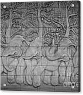 Thai Style Handcraft Of Elephant Acrylic Print