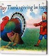 Thanksgiving Card, 1900 Acrylic Print