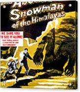 The Abominable Snowman, Aka The Acrylic Print
