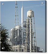 The Ares I-x Rocket Is Seen Acrylic Print