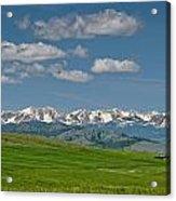 The Bridger Mountains Acrylic Print