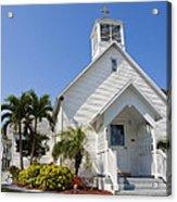 The Community Chapel Of Melbourne Beach Florida Acrylic Print