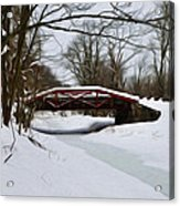 The Delaware Canal At Washington's Crossing Acrylic Print by Bill Cannon