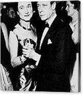 The Duke And Duchess Of Windsor Acrylic Print by Everett