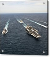 The Enterprise Carrier Strike Group Acrylic Print by Stocktrek Images