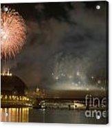 The Firework Acrylic Print by Odon Czintos