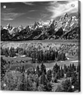 The Grand Tetons And The Snake River Acrylic Print
