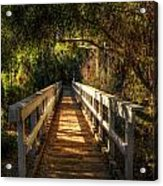 The Little White Bridge II  Acrylic Print