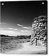 the memorial cairn on Culloden moor battlefield site highlands scotland Acrylic Print