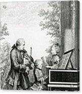 The Mozart Family On Tour, 1763 Acrylic Print