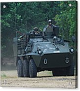 The Pandur Recce Vehicle In Use Acrylic Print