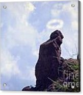 The Praying Monk With Halo - Camelback Mountain Acrylic Print