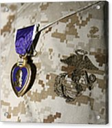 The Purple Heart Award Acrylic Print by Stocktrek Images