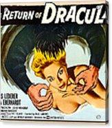 The Return Of Dracula, Francis Lederer Acrylic Print by Everett