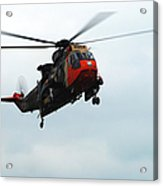 The Sea King Helicopter In Use Acrylic Print