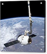 The Spacex Dragon Cargo Craft Acrylic Print