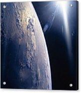The Sun Shining On Planet Earth Acrylic Print