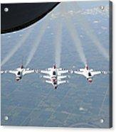 The U.s. Air Force Thunderbird Acrylic Print