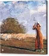 The Young Shepherdess Acrylic Print