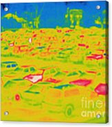 Thermogram Of Cars In A Parking Lot Acrylic Print