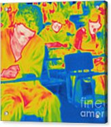 Thermogram Of Students In A Lecture Acrylic Print
