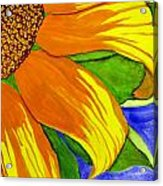 This Is No Subdued Sunflower Acrylic Print